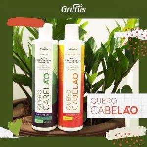 Кондиционер для стимуляции роста волос Griffus Condicionador Quero Cabelao 400 ml