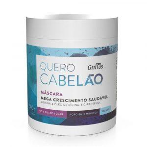 Маска для стимуляции роста волос Griffus Mascara Quero Cabelao 500 Gr