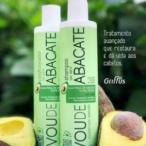 Шампунь для интенсивного восстановления поврежденных волос Griffus Shampoo Vou de Abacate 420 ml