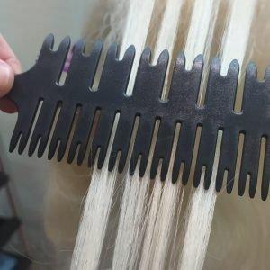 Расческа для мелирования двухсторонняя – мелкие и крупные пряди